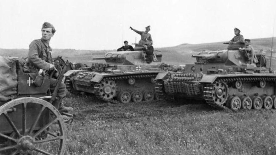 Немецкие танки на Балканах
