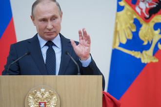 Владимир Путин во время встречи с российскими спортсменами – участниками XXIII Олимпийских зимних игр 2018, 31 января 2018 года