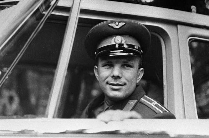Первый в мире космонавт Юрий Гагарин, 1961 год