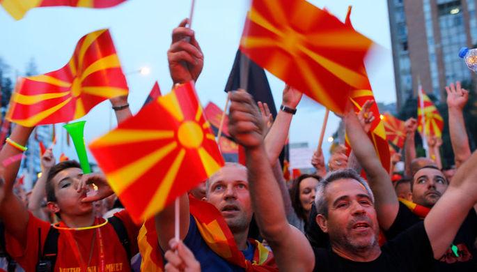 Российский флаг в руки: из-за чего протестует Македония
