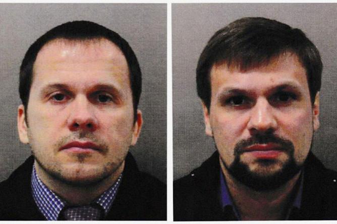Обвиняемые в отравлении Сергея и Юлии Скрипалей Александр Петров и Руслан Боширов. Фотографии опубликованы полицией Лондона
