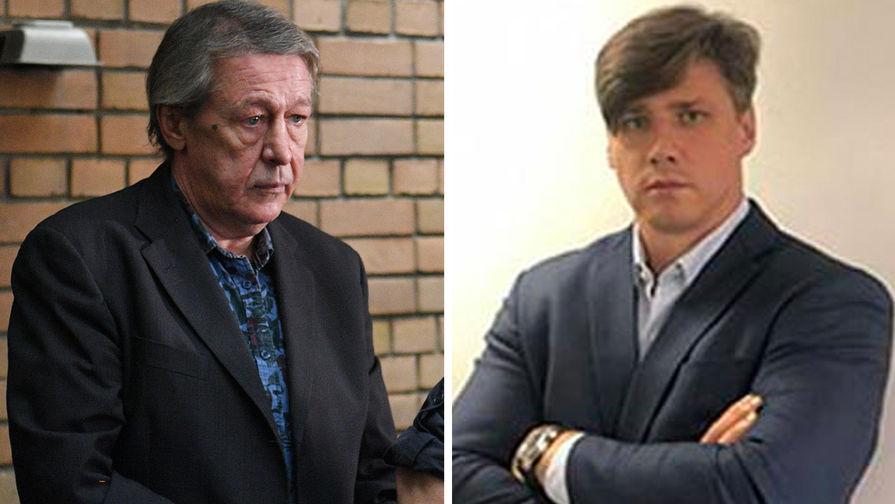 Михаил Ефремов и адвокат Роман Филиппов