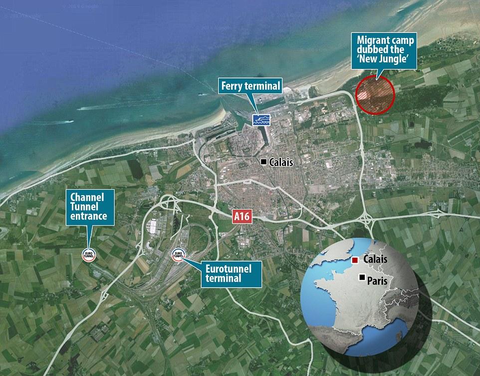 Карта окрестностей Кале