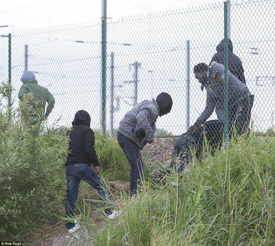 Нелегалы штурмуют забор