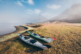 Каяк на западном фьорде Исландии