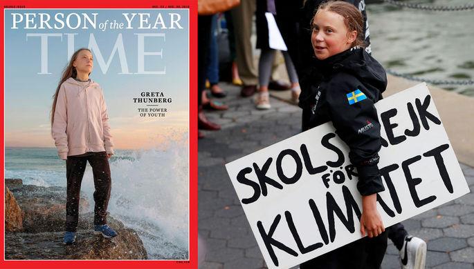 Соплячка, активистка, недоучка: Грету назвали человеком года