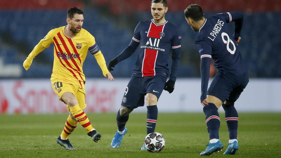 Эпизод матча «ПСЖ»- «Барселона»