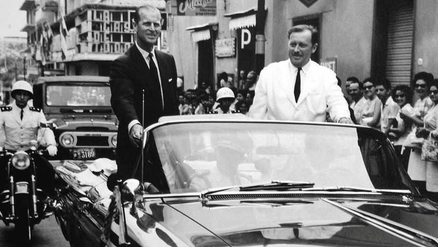 Принц Филипп с президентом Парагвая Альфредо Стресснером во время визита в Асунсьон, 1963 год