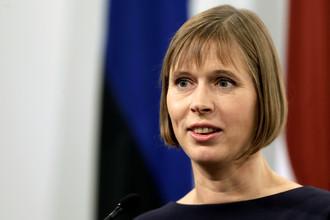 Президент Эстонии Керсти Кальюлайд, октябрь 2016 года