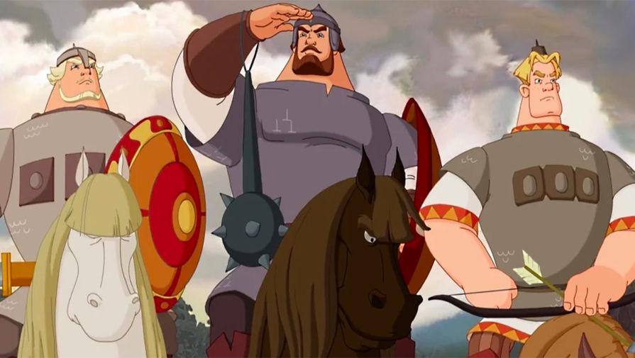 Кадр из мультфильма «Три богатыря»