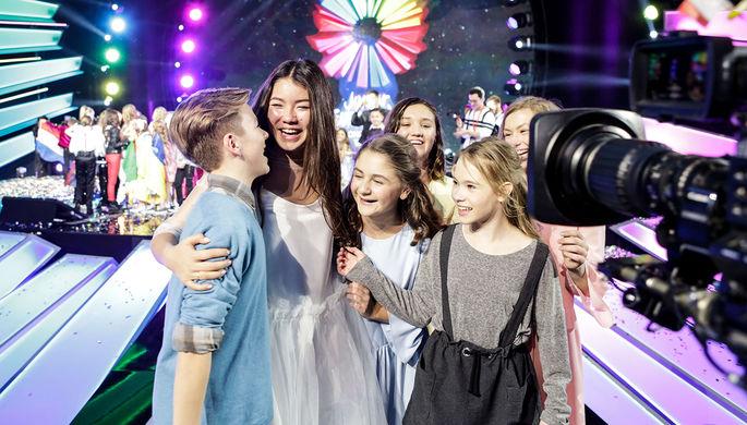 Участница «Детского Евровидения-2017» от России Полина Богусевич после выступления