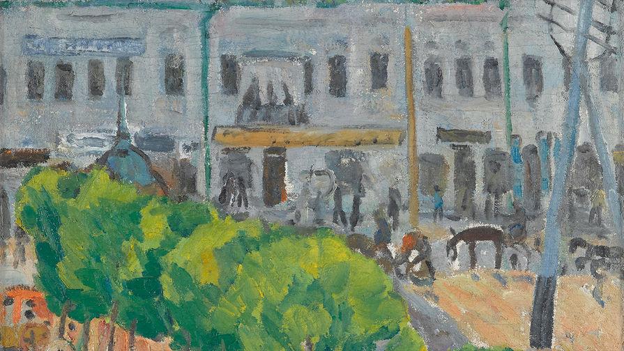 «Площадь провинциального города», Михаил Ларионов, 1907-1908 гг.