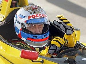 Владимир Путин за рулем болида «Формулы-1»