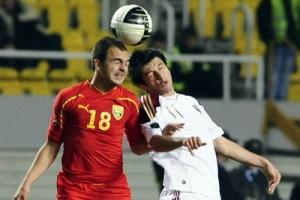 Эпизод матча Македония- Россия 12 октября 2010 года