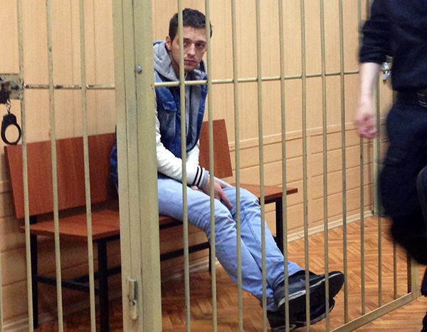 Кирилл Ишутин в зале Тверского суда/ Фотография: Елизавета Антонова