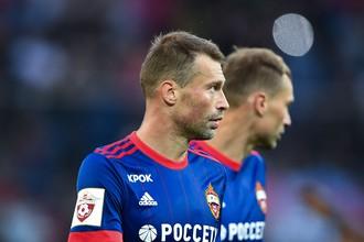 Защитник ЦСКА Алексей Березуцкий