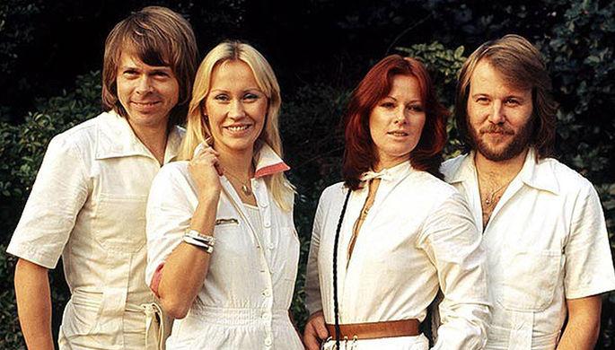 Группа ABBA: Бьорн Ульвеус, Агнета Фельтског, Анни-Фрид Лингстад и Бенни Андерссон