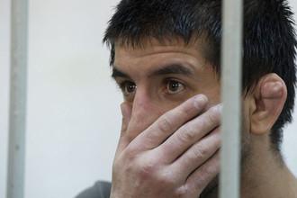 Спортсмен Расул Мирзаев, обвиняемый в смерти 19-летнего москвича Ивана Агафонова, в зале заседаний Замоскворецкого суда Москвы.