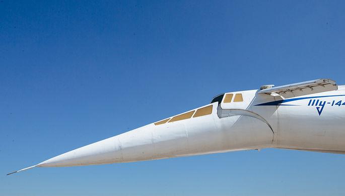 Сверхзвуковой пассажирский самолет Ту-144. Аналог французского «Конкорда». Отличительной...