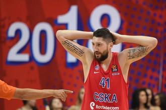 Игрок баскетбольного ЦСКА Никита Курбанов