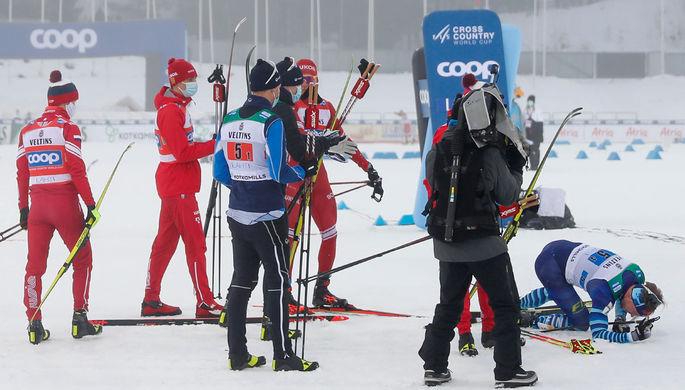 Новая провокация: Большунов ударил соперника на финише