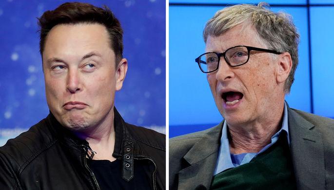 Илон Маск и Билл Гейтс (коллаж)