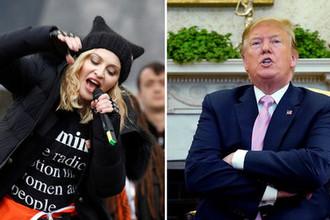 Певица Мадонна и президент США Дональд Трамп, коллаж «Газеты.Ru»
