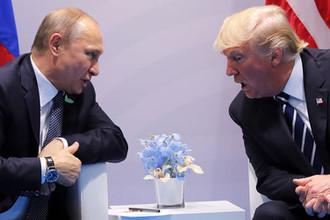 Президент России Владимир Путин и президент США Дональд Трамп во время переговоров на саммите G20, 2018 год