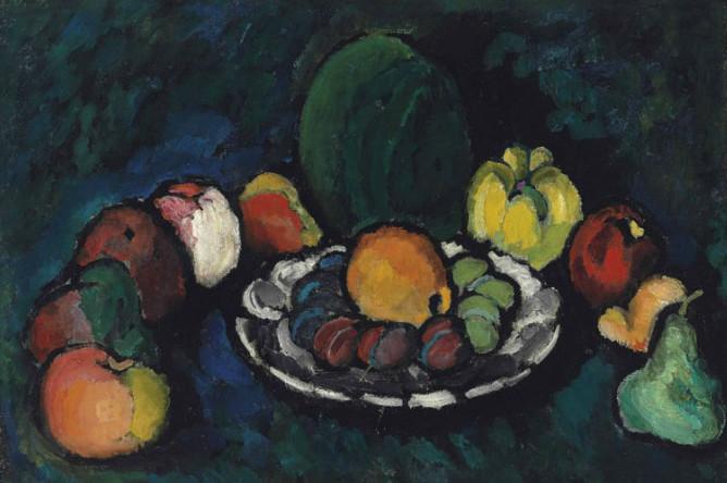 Топ-лотом Christie`s стала картина Ильи Машкова «Натюрморт с фруктами», которая была продана за 4,8 млн фунтов при оценке 1,0–1,5 млн фунтов