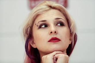 Мария Алехина на пресс-конференции фонда Cinema for Peace в рамках 65-го Берлинского кинофестиваля