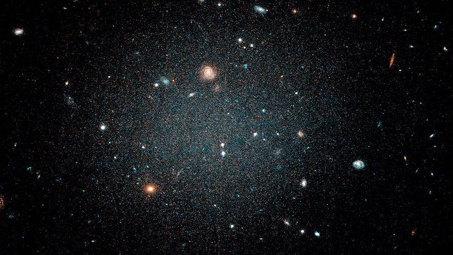 Hubble снял взаимодействие двух галактик
