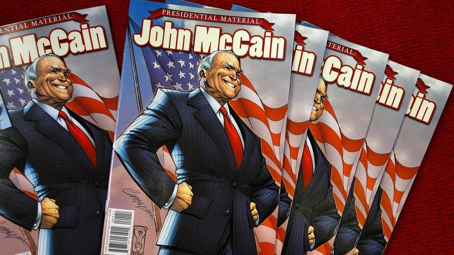 Биография сенатора Джона Маккейна в виде комикса в преддверии президентских выборов в США, октябрь...