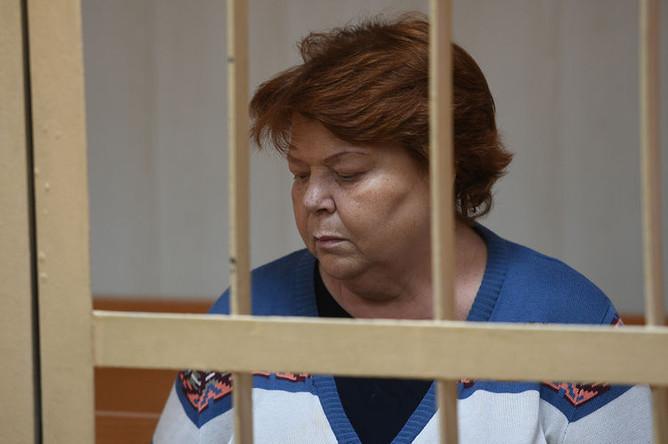 Бывший главный бухгалтер театральной труппы «Седьмая студия» Нина Масляева во время заседания Пресненского суда Москвы, 25 мая 2017 года