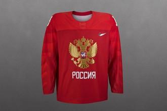 Свитер сборной России по хоккею на Олимпиаде-2018