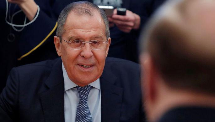 Министр иностранных дел России Сергей Лавров во время встречи с американскими конгрессменами в...