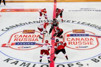 Россия против Канады в матче молодежной суперсерии