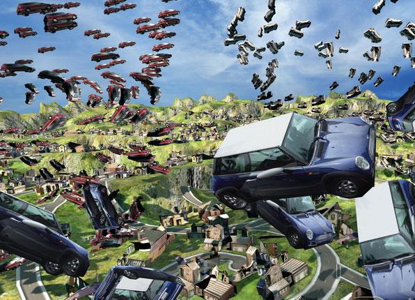 Experimental Game Lab. «Масштабируемый город». 2008-2010. Интерактивная инсталляция