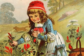 Иллюстрация конца XIX века к немецкому варианту сказки о Красной Шапочке