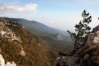 Вид на горное плато Крымского заповедника