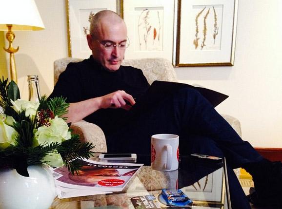 Михаил Ходорковский в Берлине. Фотография: Instagram Веры Кричевской