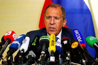 Глава российского МИД Сергей Лавров