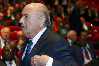 Зепп Блаттер во время открытия 65-го конгресса ФИФА