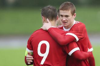 Молодежная сборная России в отборочном матче на ЧЕ U21