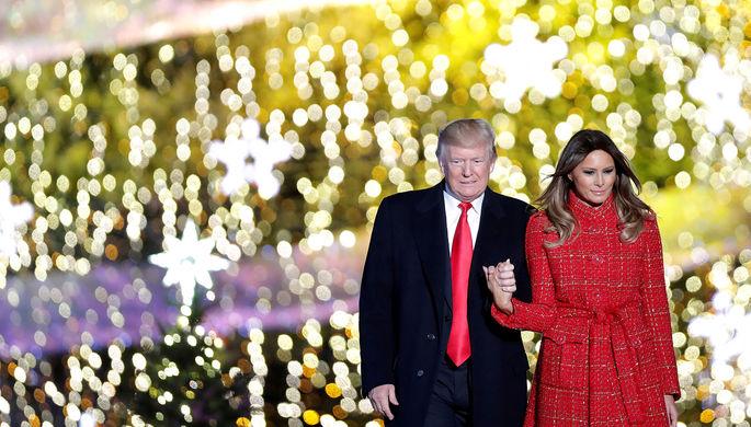 Президент США Дональд Трамп и первая леди США Меланья Трамп
