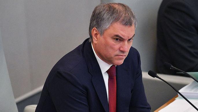 Володин счел оскорбительными заявления о «клоунах» в Госдуме