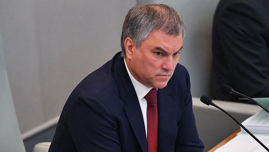 Володин: депутатам «неправильно» переходить на удаленку