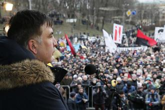 Михаил Саакашвили на митинге в Киеве, 4 февраля 2018