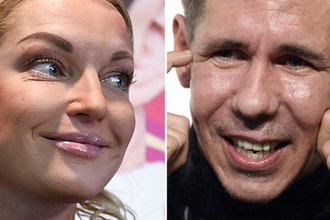 Балерина Анастасия Волочкова и актер Алексей Панин