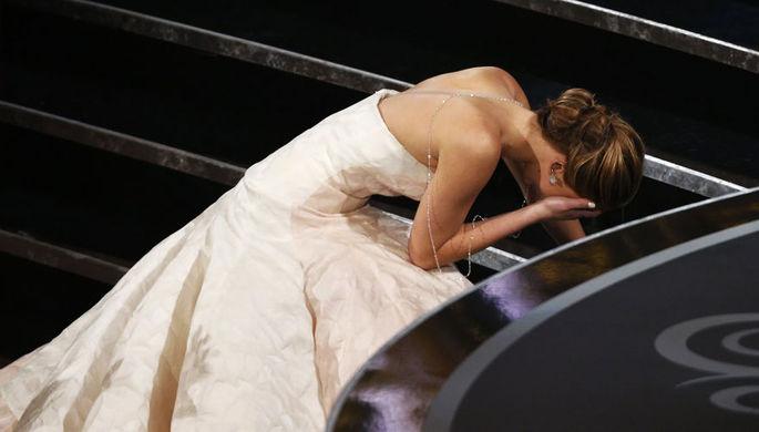Дженнифер Лоуренс на церемонии «Оскар» в 2013-м году
