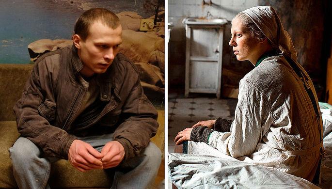 Кадры из фильмов «Бык» и «Дылда» (2019)